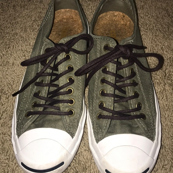 494b4378a245 Converse Shoes - Jack Purcell Army Green